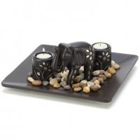 Elephant Candle Holder Set