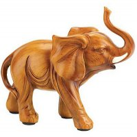 Polyresin Wood Look Lucky Elephant