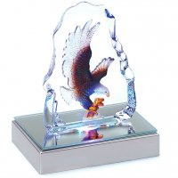 Color-Changing Glass Eagle Statue